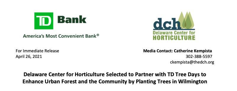 TD Tree Days 2021 – Tree Planting at Banning Park