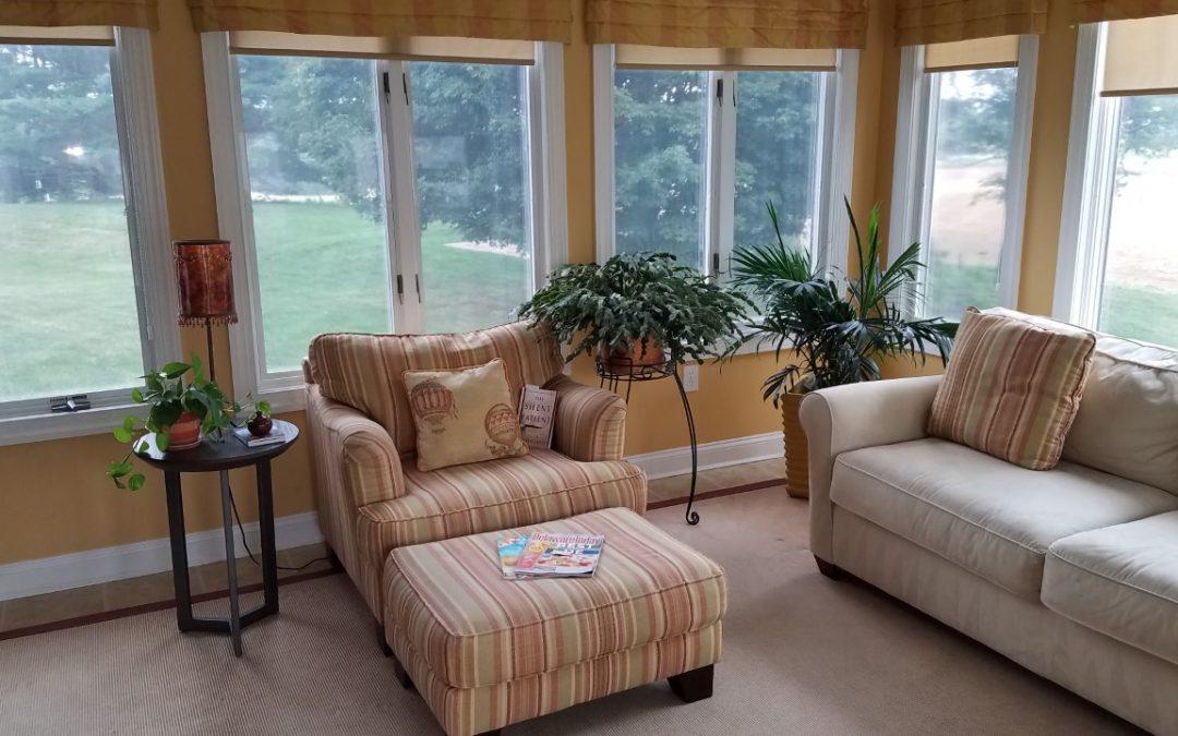 """Donnita's Sunroom Cozy Reading Nook"" by Donnita Scott"